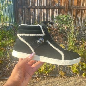 COACH black and white boots , NWT